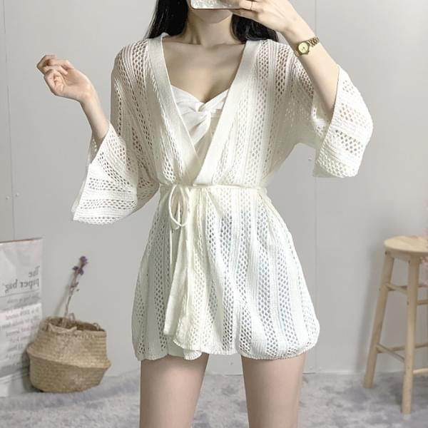 Cool knit robe cardigan