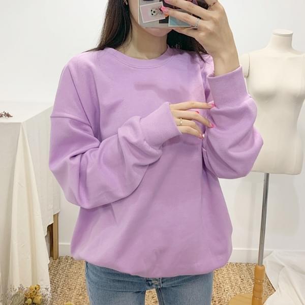 Sweety macaron plain sweat shirt