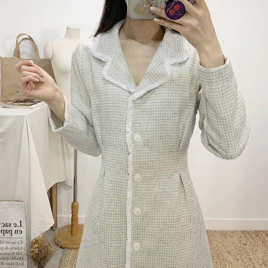 Princess Tweed Surgery Long Coat Dress