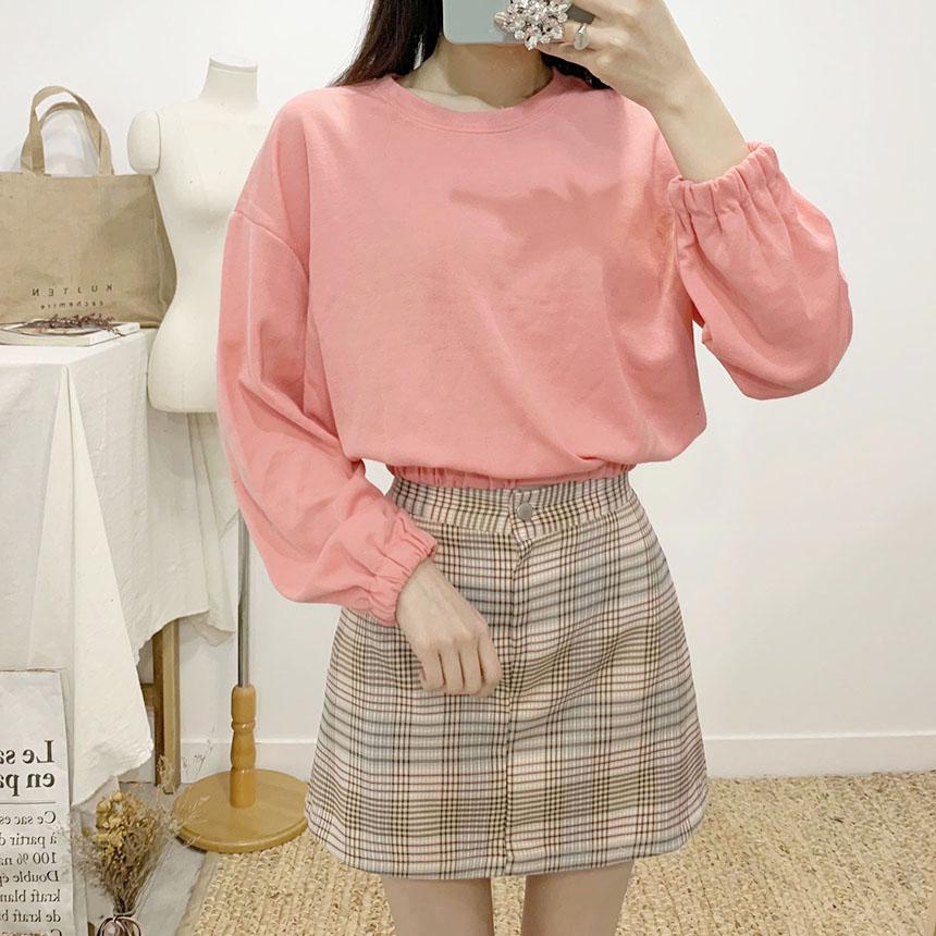 Belouge checked mini skirt pants