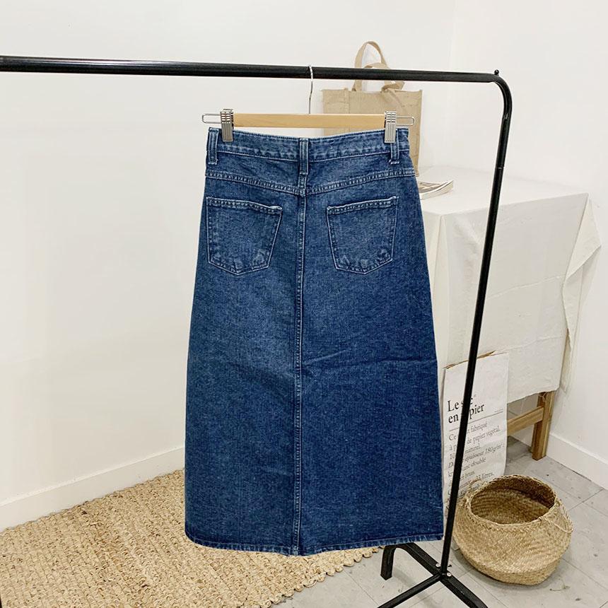Handy's Denim Trim Long Skirt