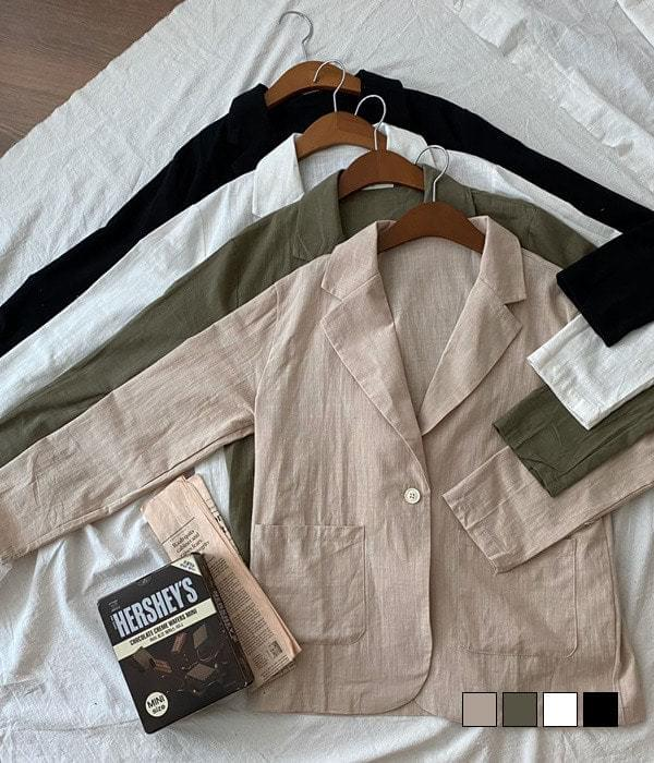 Block sunlight! Summer linen jacket