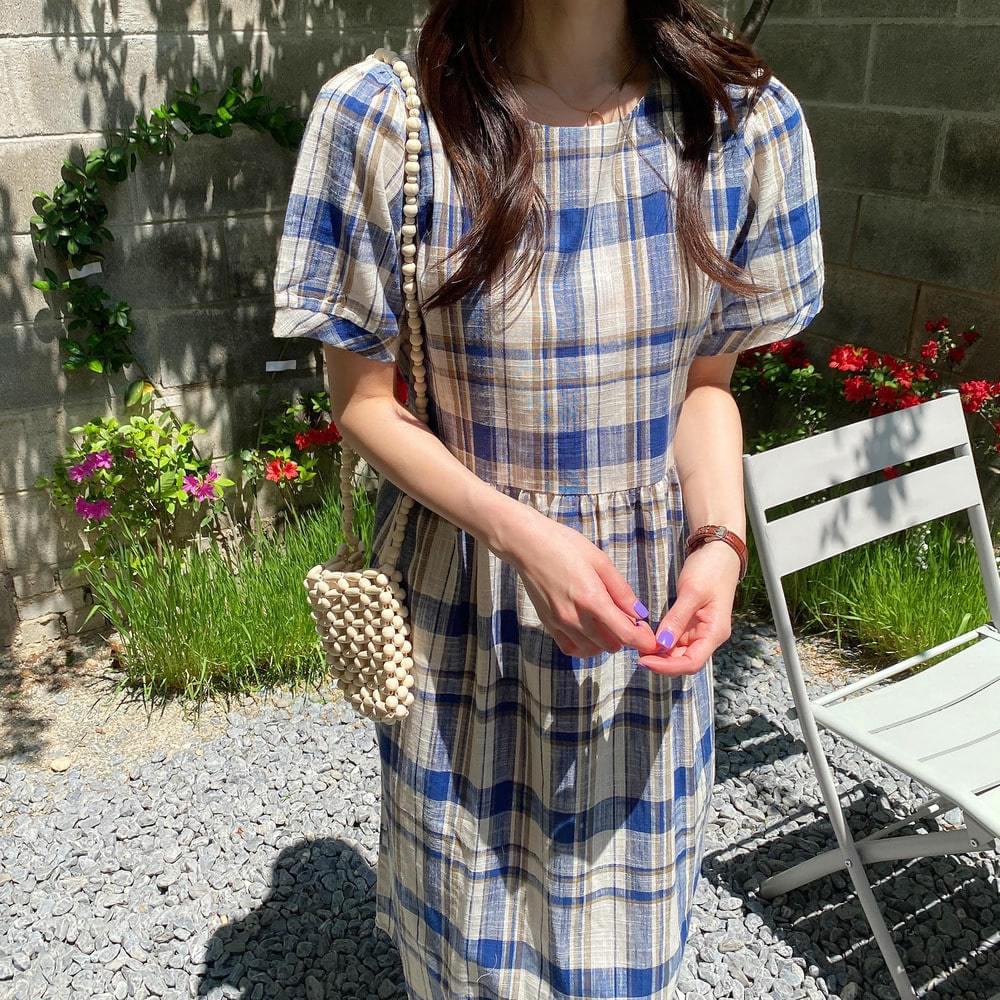 Owol Linen Check Dress