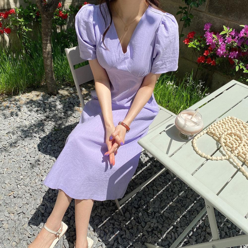 Sunny Linen Long Dress