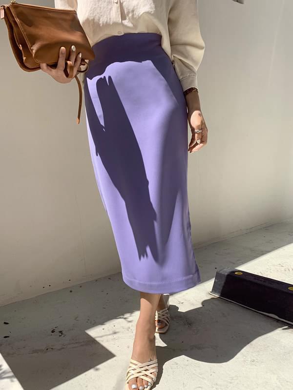 Macaron tension slit skirt