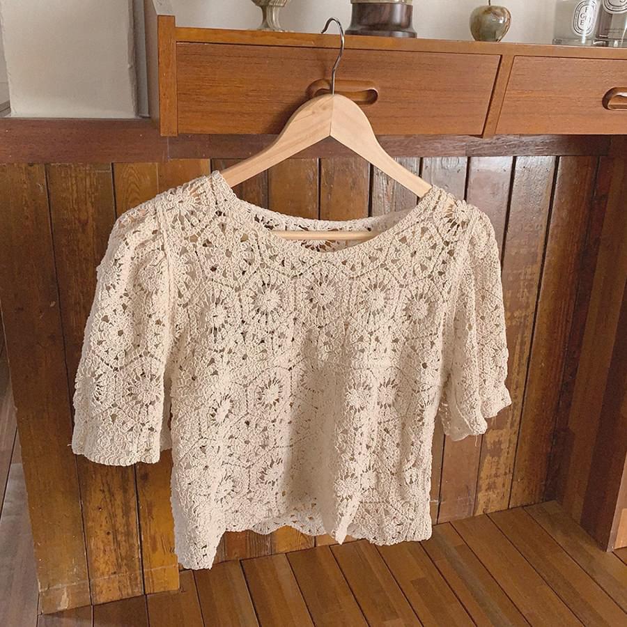Crop needle knit