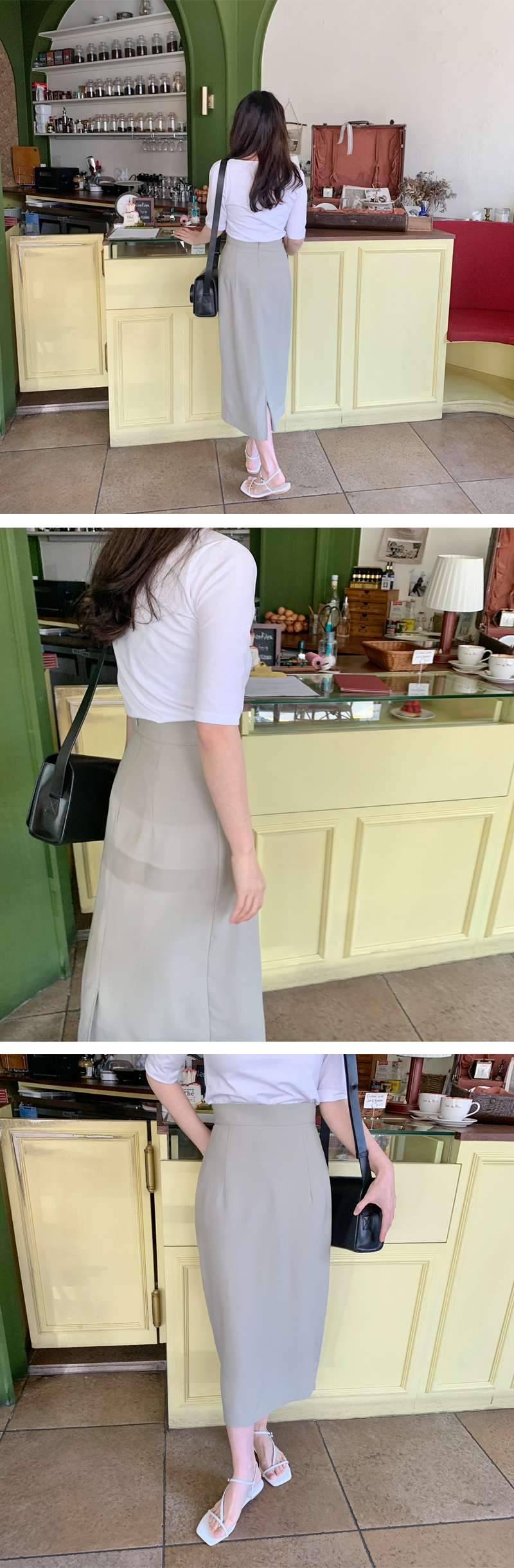 Basic Span Round Short Sleeve Tee