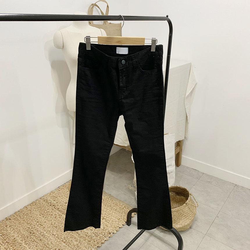 Ventlet semi-bootcut cotton trousers