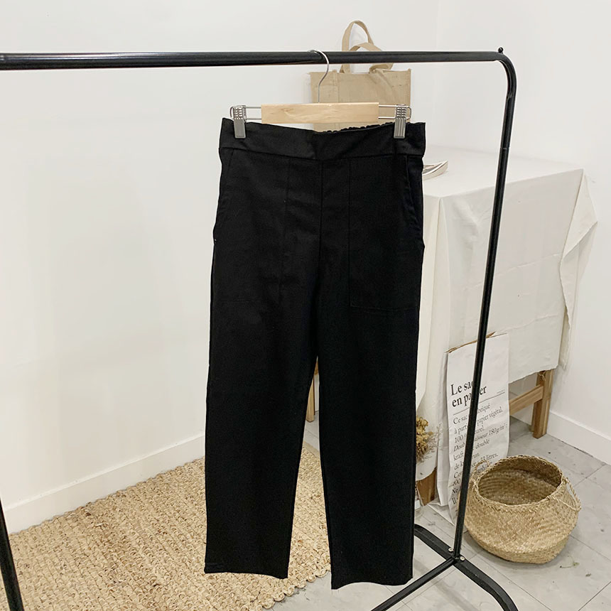Robin cotton slim straight-fit trousers