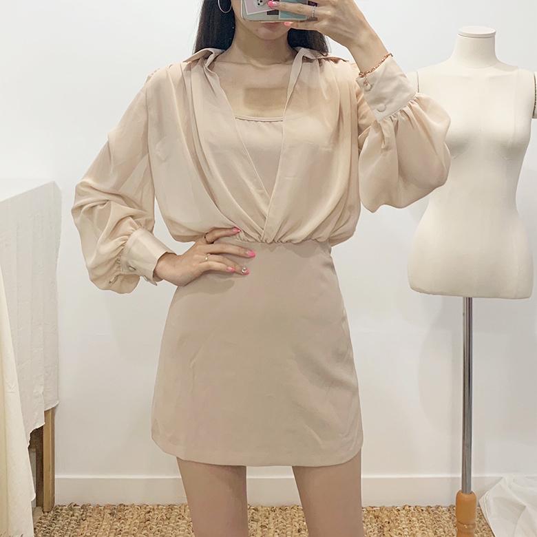Serena see-through blouse dress