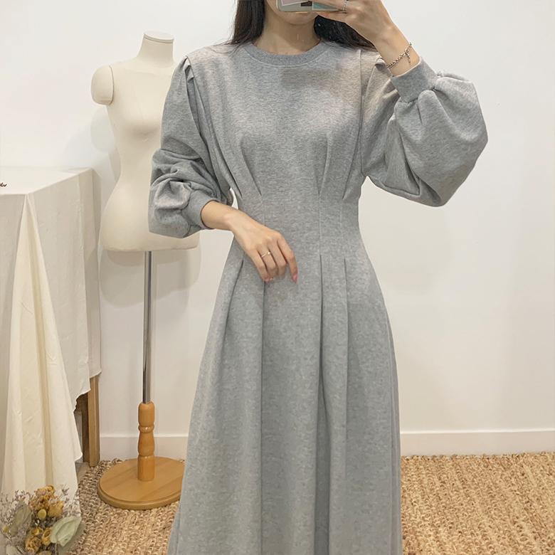 Cream puff long dress