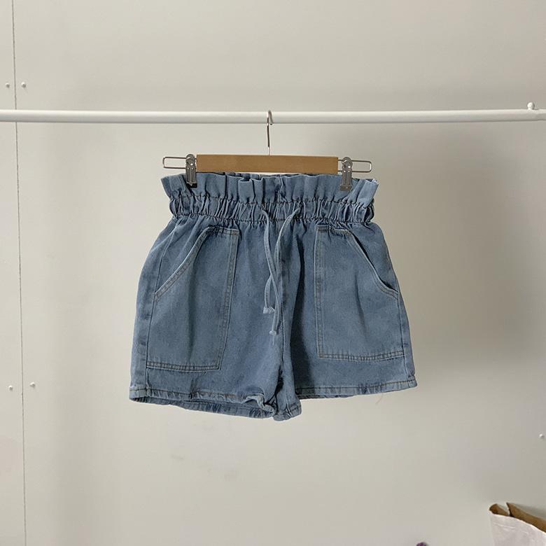 High waist pocket short pants