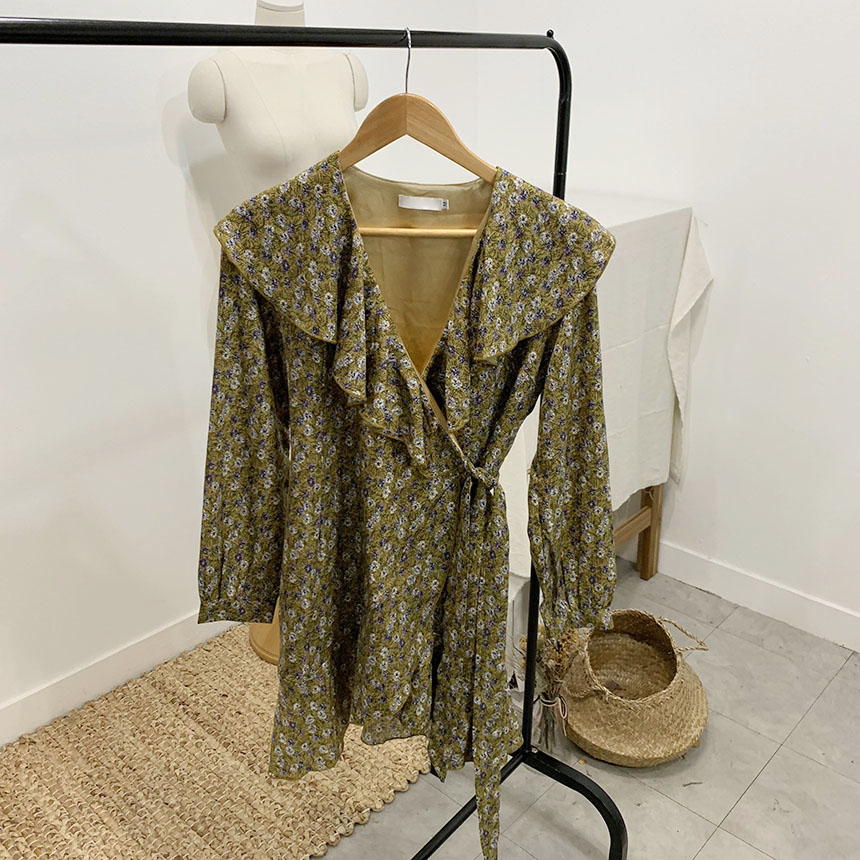 Lost Flower Wrap Mini Dress