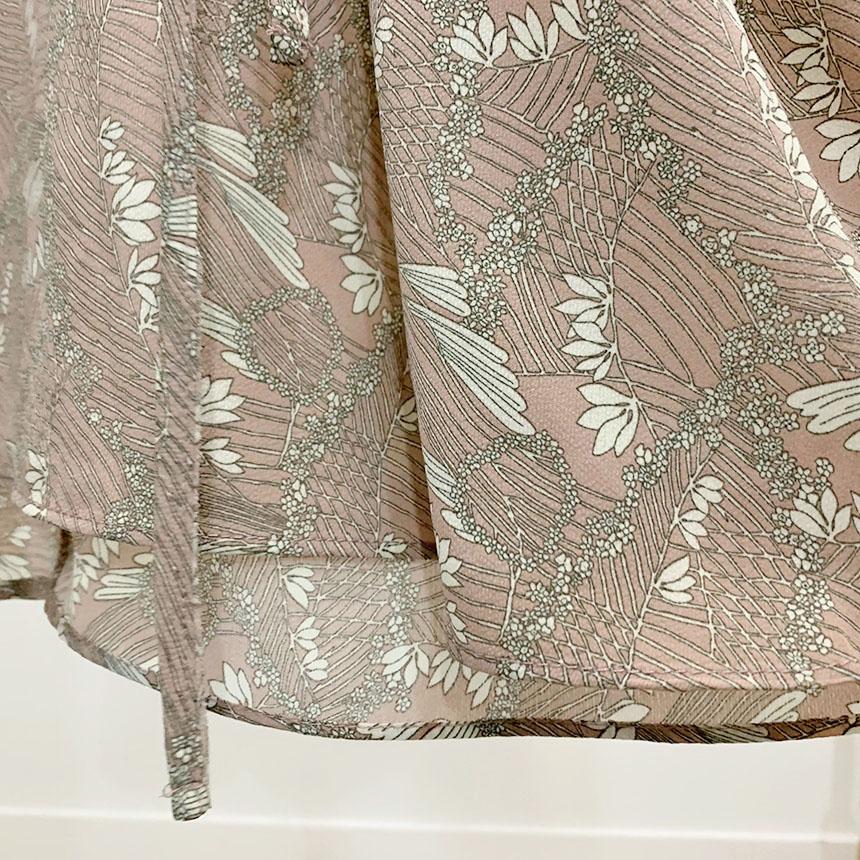 Tristy V Neck Wrap Flare Long Dress