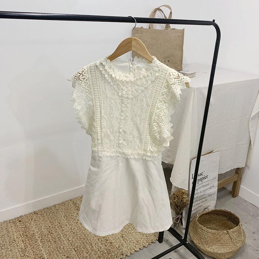 Rachata lace sleeveless mini jumpsuit