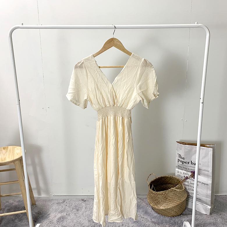 Jolly V Smoke Wrap Long Dress