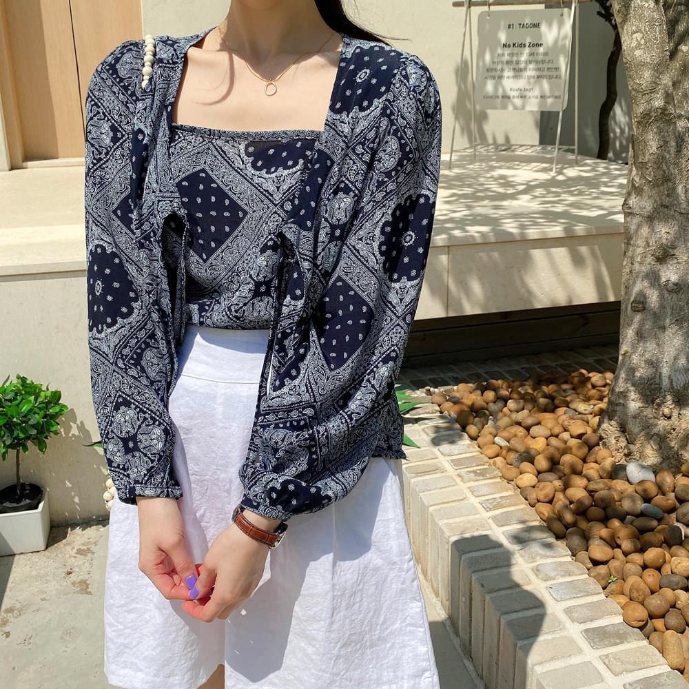 Paisley blouse set