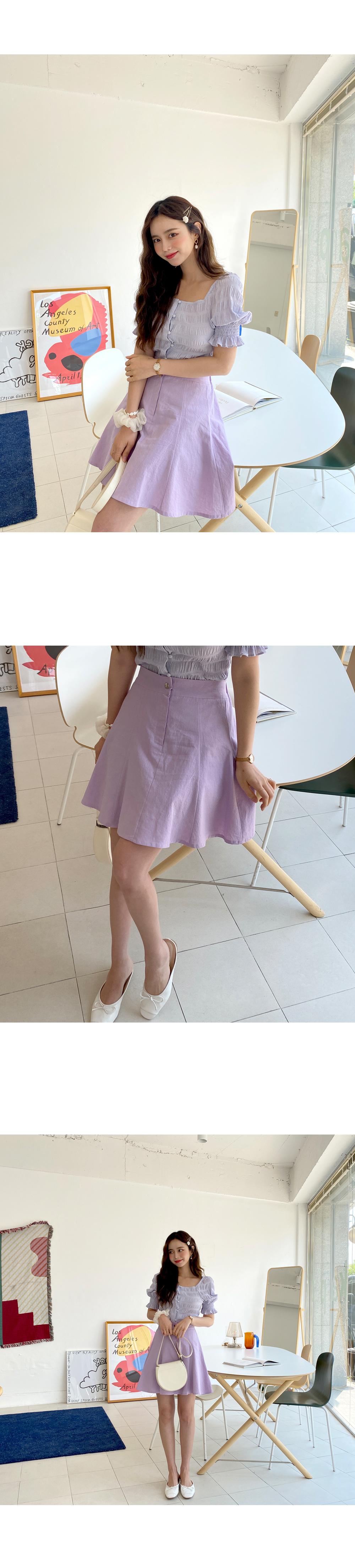 Soft Han Linen Flare Skirt