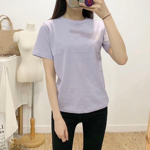 Zeros plain round neck short sleeve t-shirt