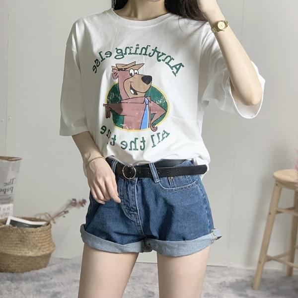 Rouge Bear Printing Short Sleeve T-Shirt
