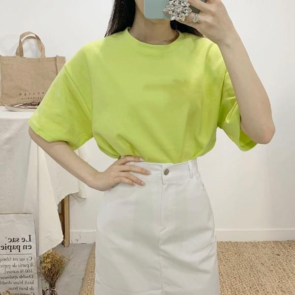 Pulp plain round neck short sleeve t-shirt