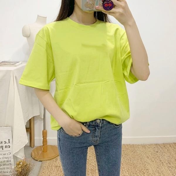 2 way plain round neck short sleeve t shirt