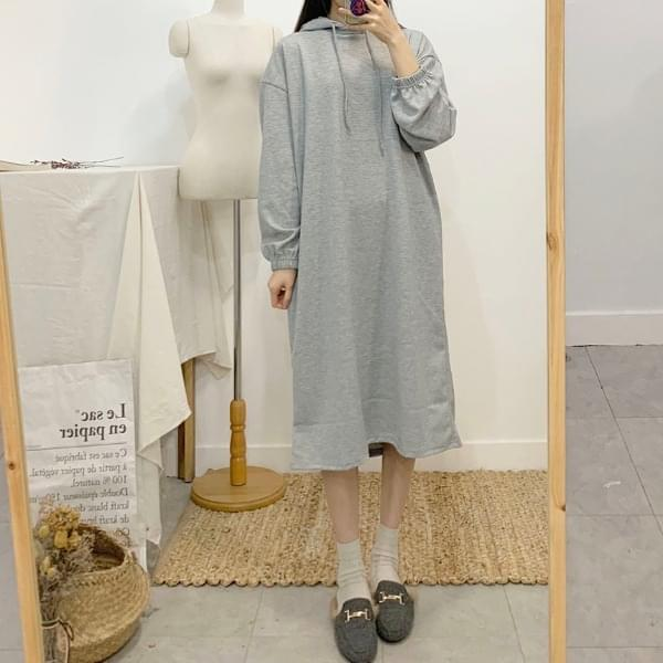 Billy Plain Long Hooded Dress