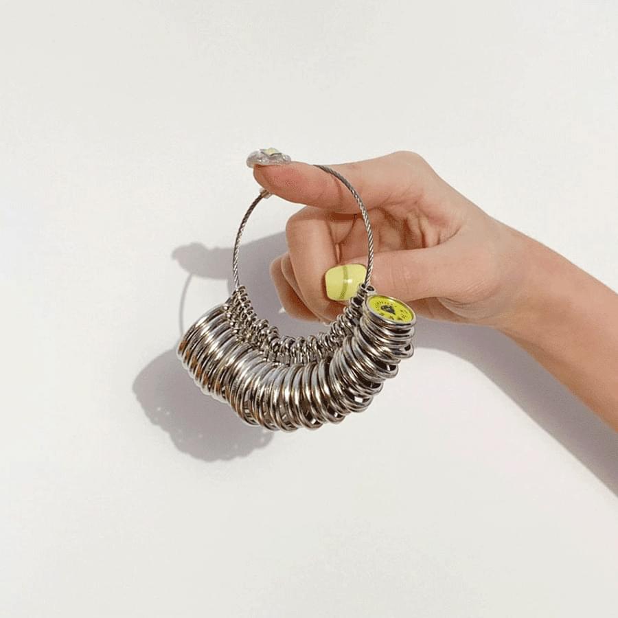 韓國空運 - Ring Size Measurement Lake Meter Ring Gauge Silver Type 戒指