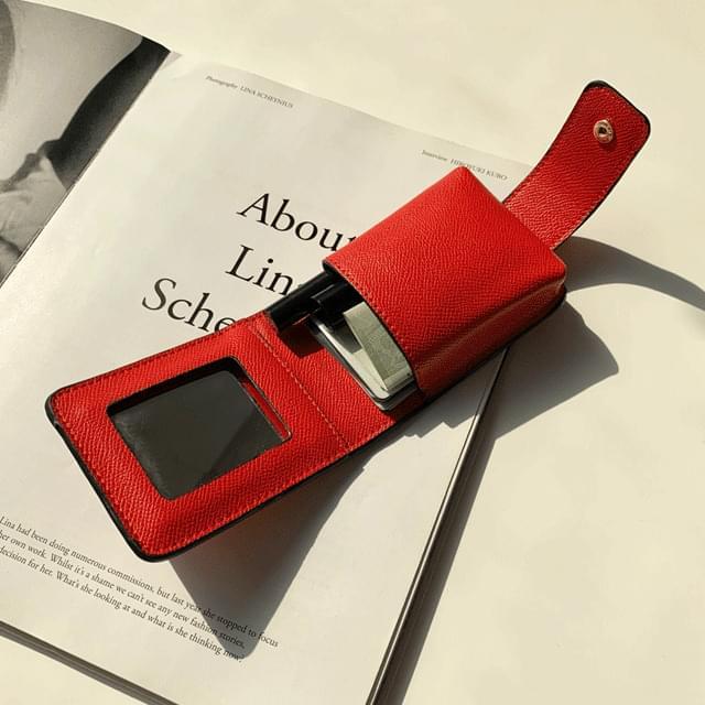 Line lipstick case pouch 3color 手拿包