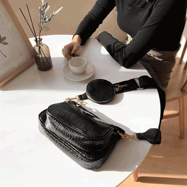 Triple bag and bag clutch cross bag 5color 手拿包