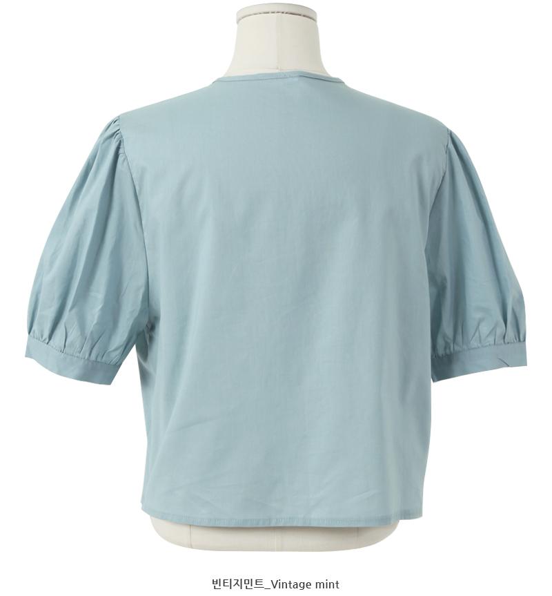 Closet lace puff blouse