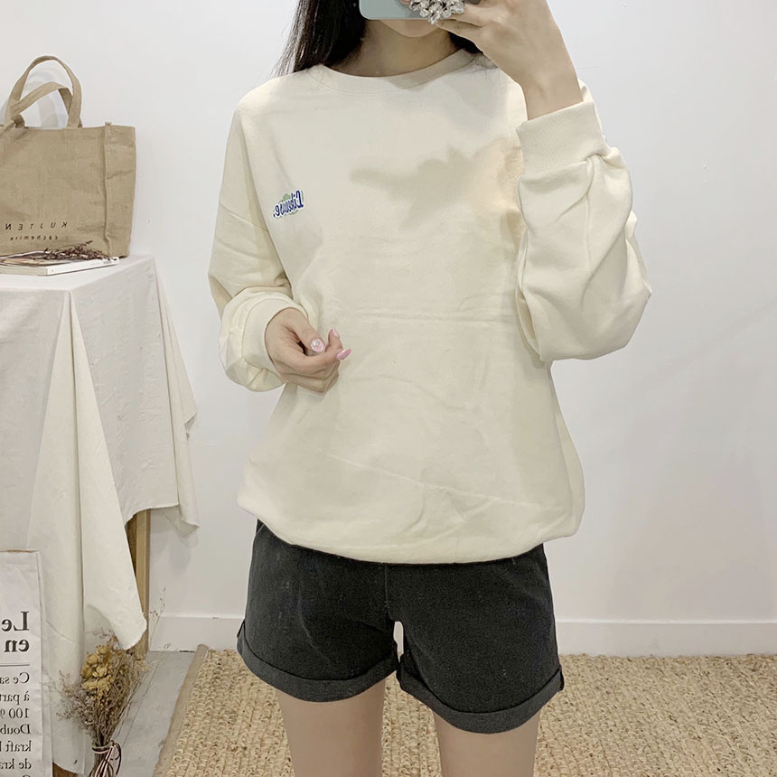 Wisely printing round neck sweat shirt