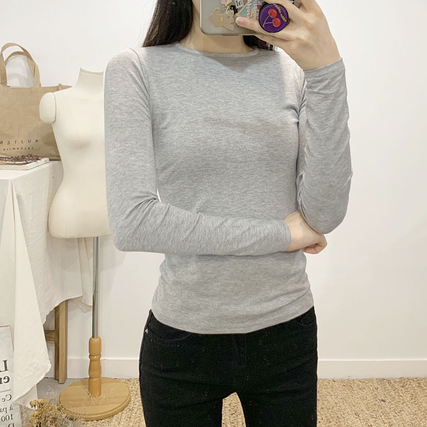 Chess ring span round neck long sleeve t shirt