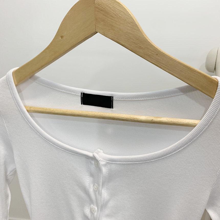 Cadiz Henry neck cropped long-sleeved T-shirt