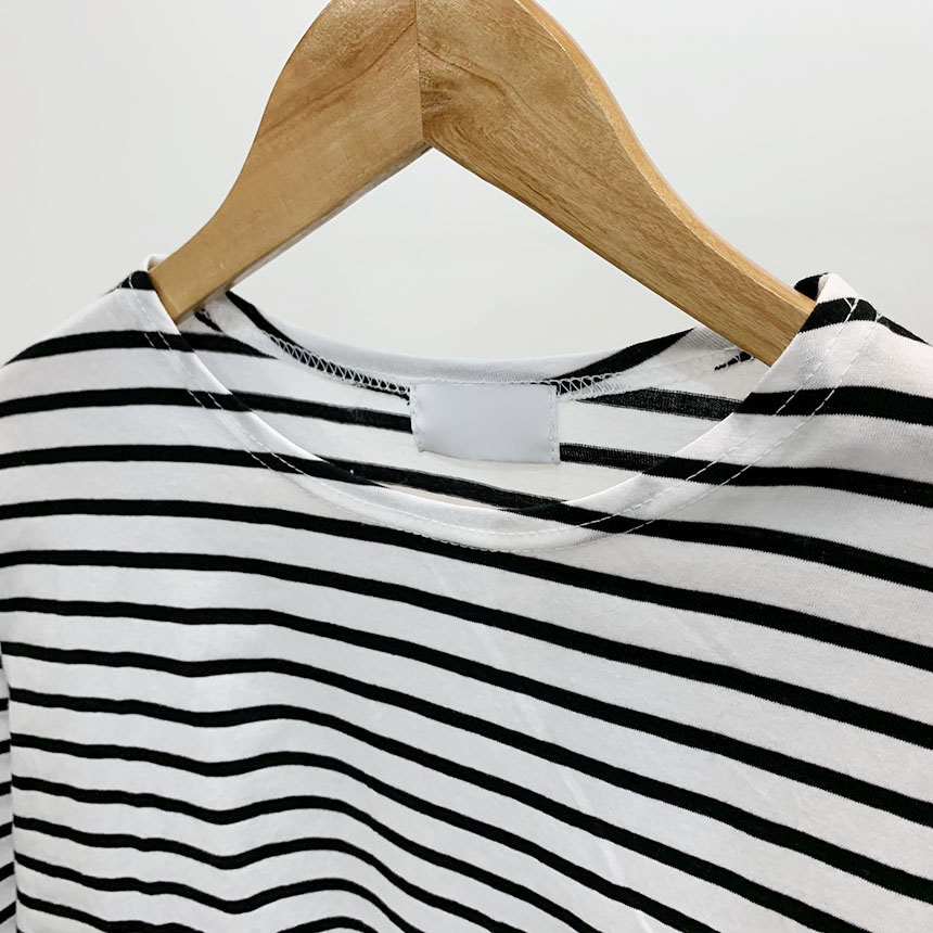Grand Stripe Round Neck Long Sleeve T-Shirt