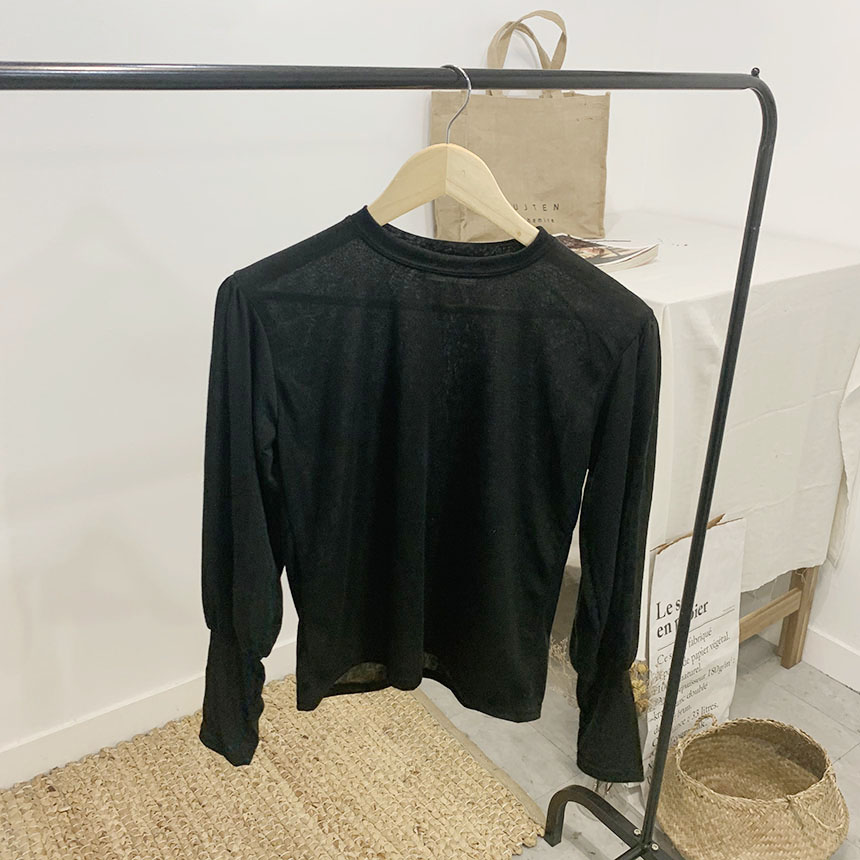 Mois Volume Puff Long Sleeve T-Shirt