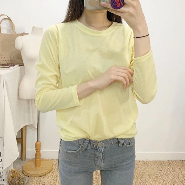 Cashmere Round Neck Long Sleeve T-Shirt