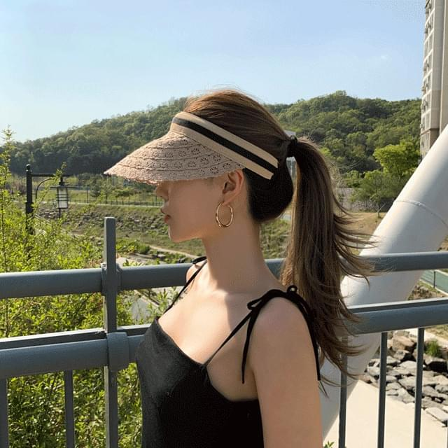 Helen lace visor sun cap hat 2color