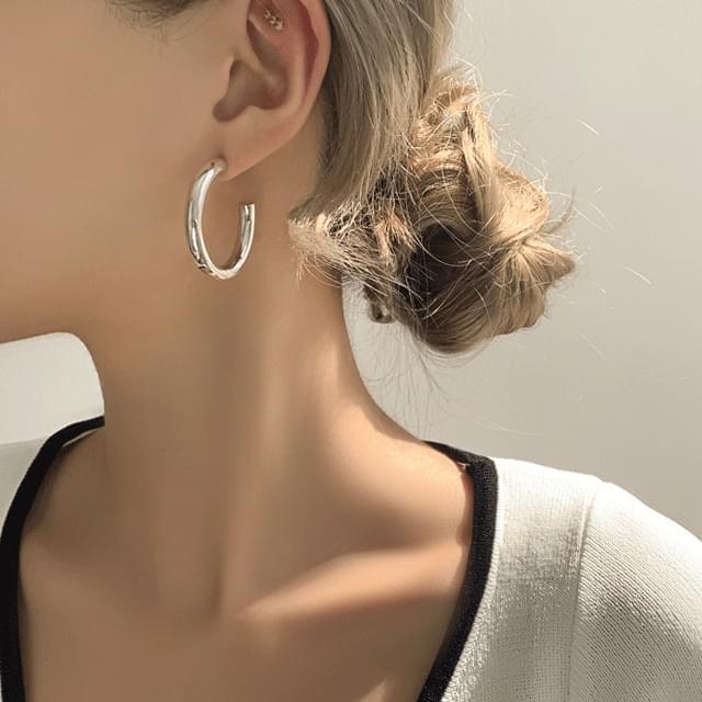 Ryan bold silver925 ring drop earrings