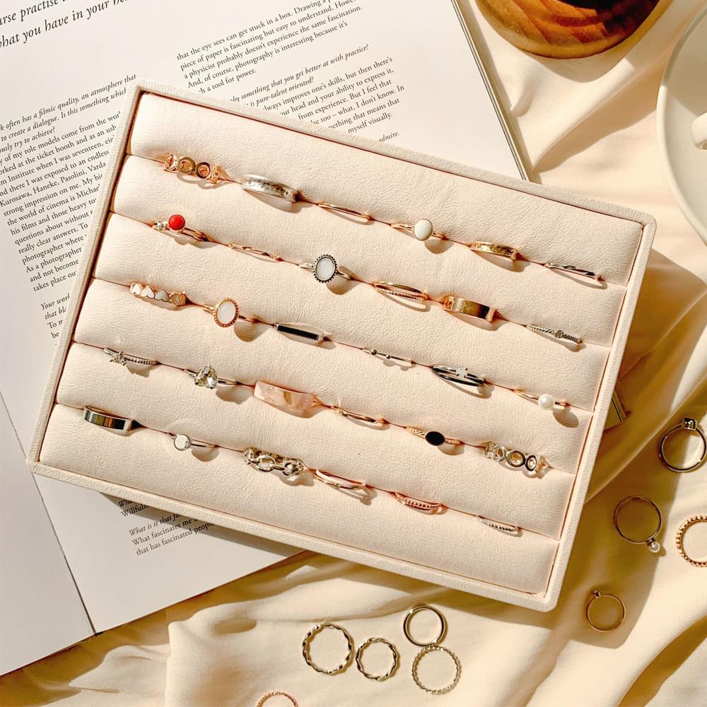 Daily Simple Vintage Bold Layered Set Ring Collection