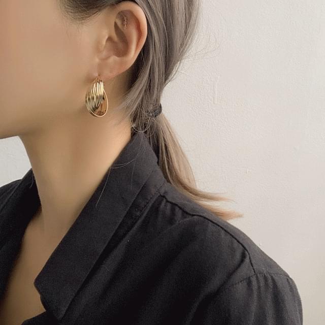 Vintage autumn long drop ring earrings