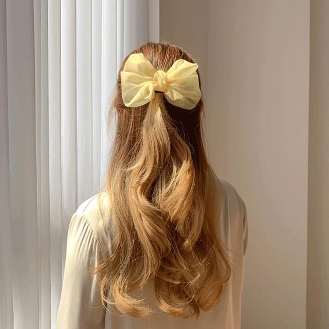 Chiffon pastel ribbon hairpin 5color