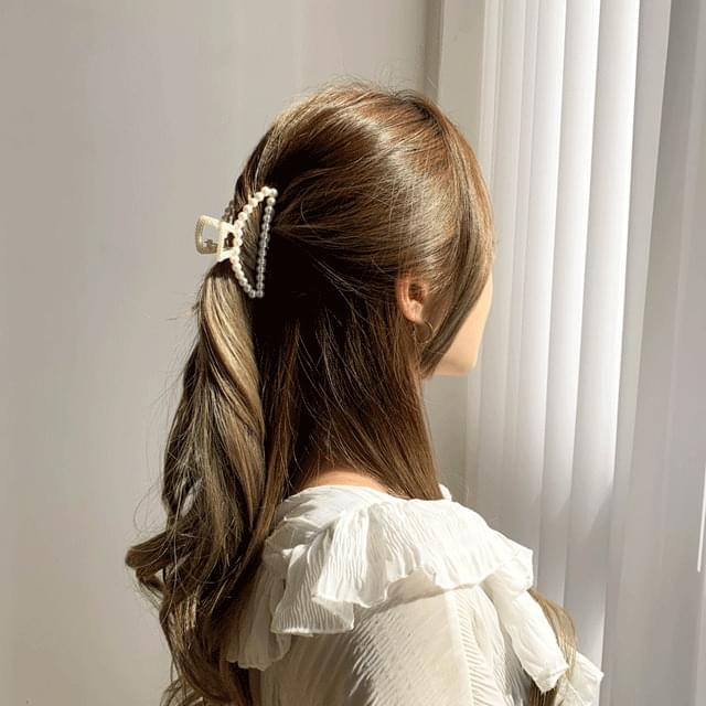 Pearl shape clip hairpin 4Type