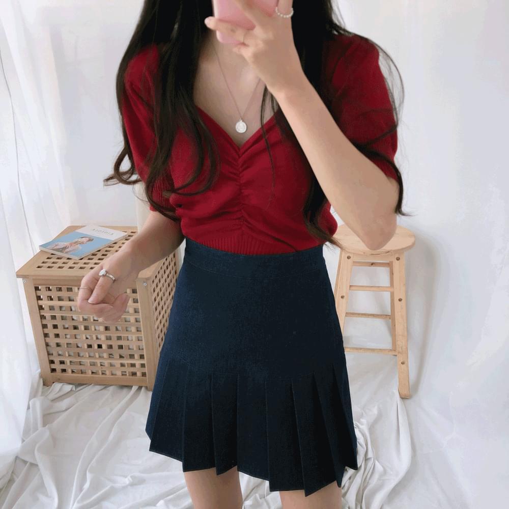 Gサロンシャーリング半袖ニット (t0979)