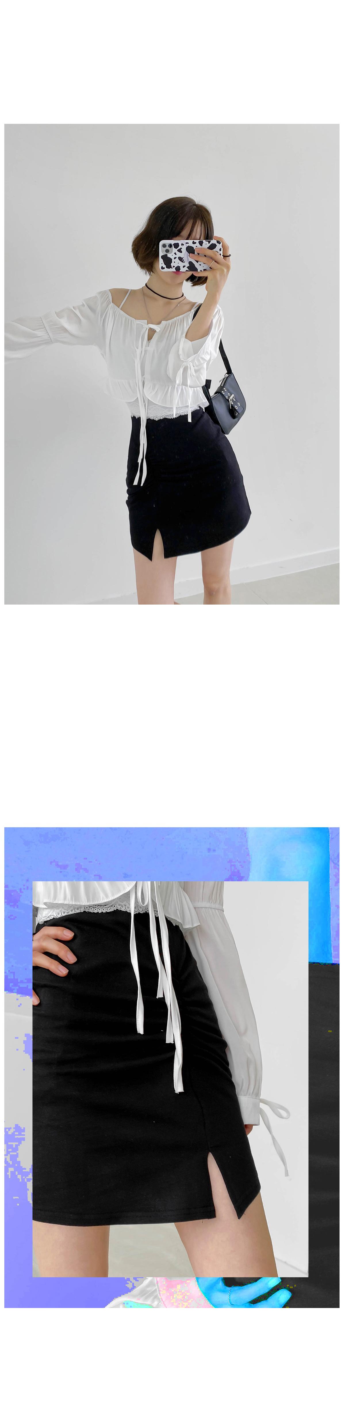 T-shirt opener mini skirt