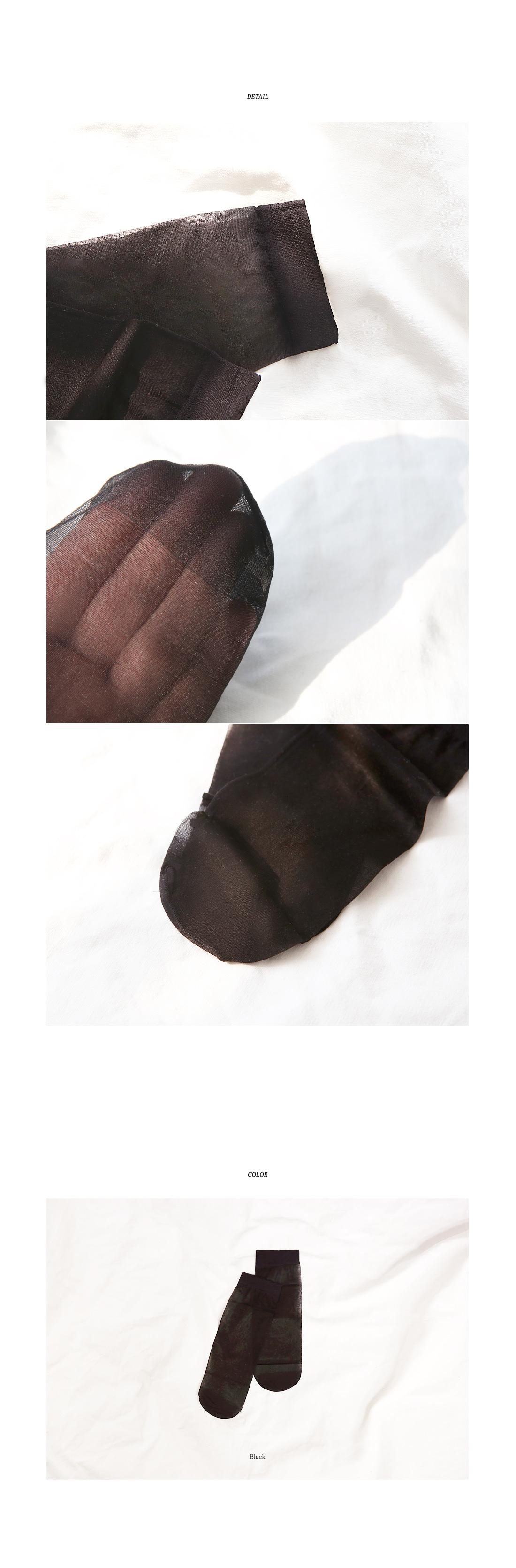 BLACK SEERTROUGH SOCKS