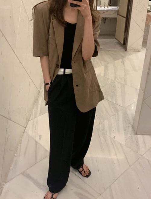 Muse half linen jacket