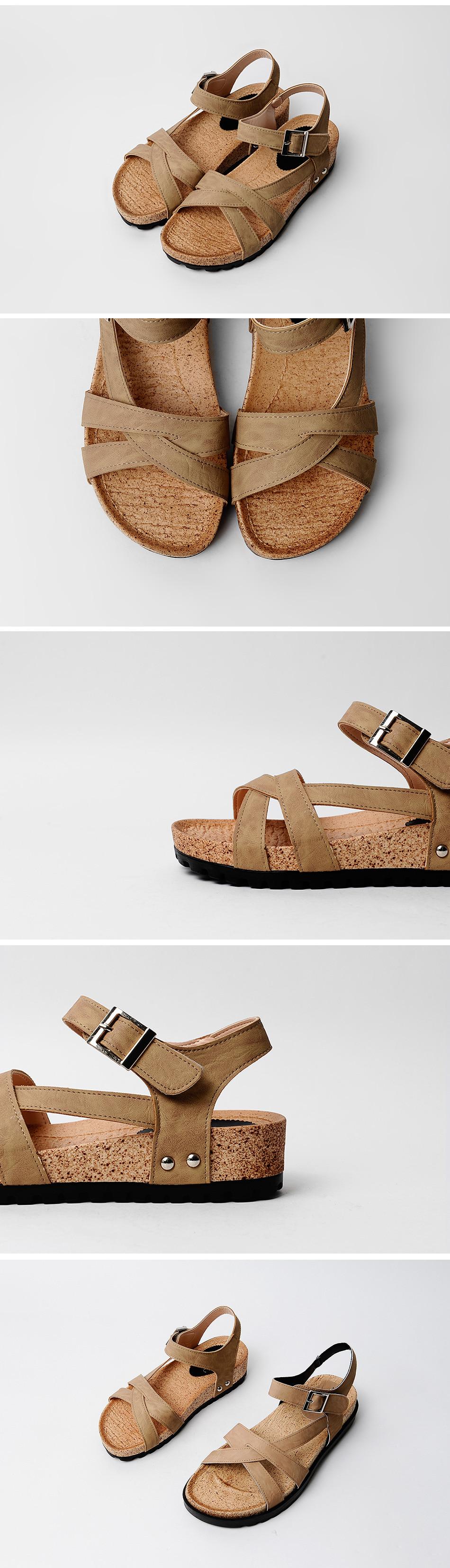 Tapered Velcro Sandals 4cm