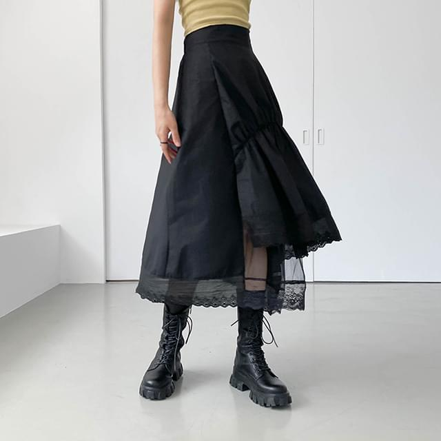 Lace serie cancan long skirt