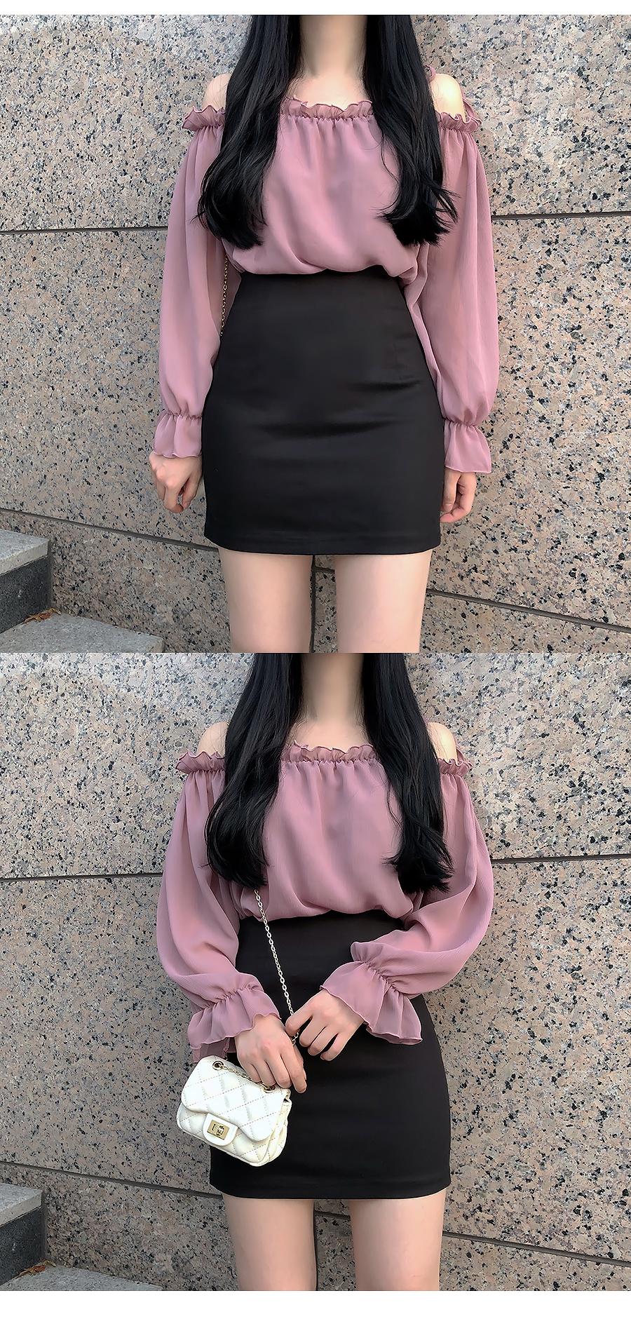 Self-made ♥ Shoulder width blouse